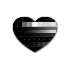 Grayscale Test Pattern Heart Coaster (4 pack)
