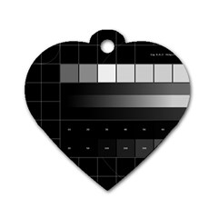 Grayscale Test Pattern Dog Tag Heart (one Side)