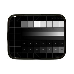 Grayscale Test Pattern Netbook Case (Small)