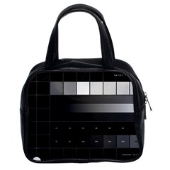 Grayscale Test Pattern Classic Handbags (2 Sides)
