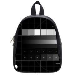 Grayscale Test Pattern School Bags (Small)