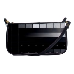 Grayscale Test Pattern Shoulder Clutch Bags