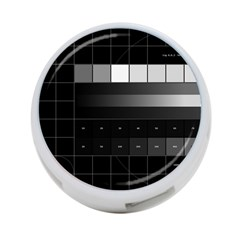 Grayscale Test Pattern 4-Port USB Hub (Two Sides)