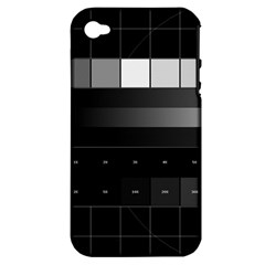 Grayscale Test Pattern Apple iPhone 4/4S Hardshell Case (PC+Silicone)