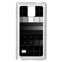 Grayscale Test Pattern Samsung Galaxy Note 4 Case (White)