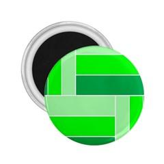 Green Shades Geometric Quad 2.25  Magnets