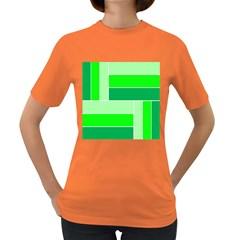 Green Shades Geometric Quad Women s Dark T Shirt