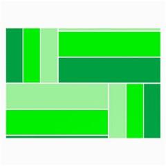 Green Shades Geometric Quad Large Glasses Cloth