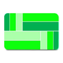 Green Shades Geometric Quad Plate Mats