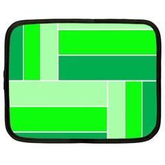 Green Shades Geometric Quad Netbook Case (XL)