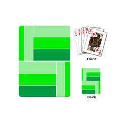 Green Shades Geometric Quad Playing Cards (Mini)