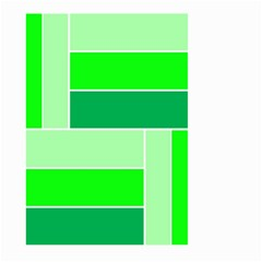 Green Shades Geometric Quad Large Garden Flag (Two Sides)