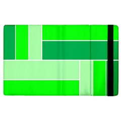 Green Shades Geometric Quad Apple iPad 2 Flip Case