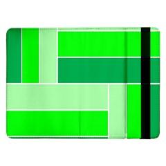 Green Shades Geometric Quad Samsung Galaxy Tab Pro 12.2  Flip Case