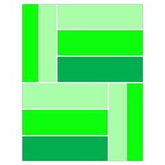 Green Shades Geometric Quad Drawstring Bag (Large)