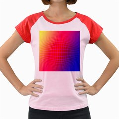 Grid Diamonds Figure Abstract Women s Cap Sleeve T-Shirt