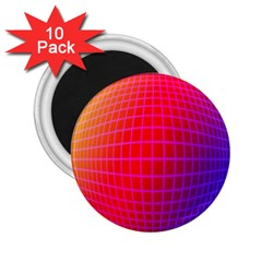 Grid Diamonds Figure Abstract 2.25  Magnets (10 pack)