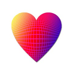 Grid Diamonds Figure Abstract Heart Magnet