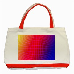 Grid Diamonds Figure Abstract Classic Tote Bag (Red)