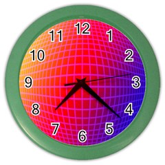 Grid Diamonds Figure Abstract Color Wall Clocks
