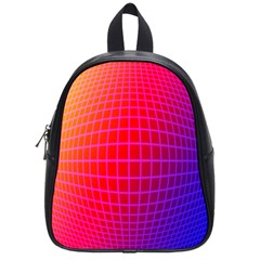 Grid Diamonds Figure Abstract School Bags (Small)