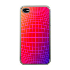 Grid Diamonds Figure Abstract Apple iPhone 4 Case (Clear)