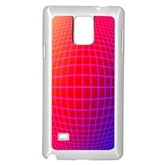 Grid Diamonds Figure Abstract Samsung Galaxy Note 4 Case (White)