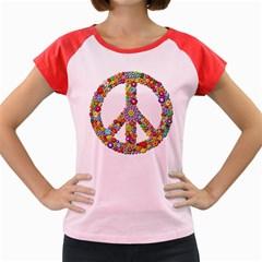 Groovy Flower Clip Art Women s Cap Sleeve T-Shirt