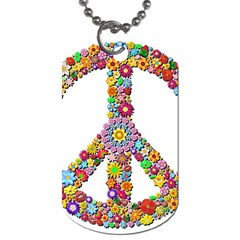 Groovy Flower Clip Art Dog Tag (Two Sides)