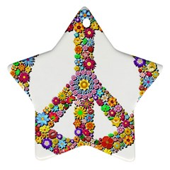 Groovy Flower Clip Art Star Ornament (Two Sides)