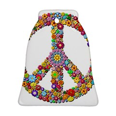 Groovy Flower Clip Art Bell Ornament (Two Sides)