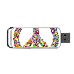 Groovy Flower Clip Art Portable USB Flash (Two Sides)