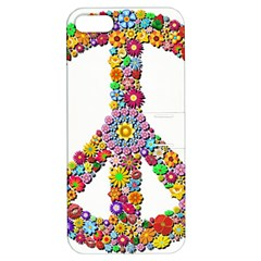 Groovy Flower Clip Art Apple iPhone 5 Hardshell Case with Stand