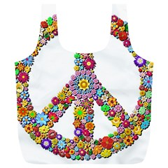 Groovy Flower Clip Art Full Print Recycle Bags (L)
