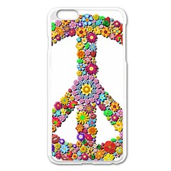 Groovy Flower Clip Art Apple iPhone 6 Plus/6S Plus Enamel White Case