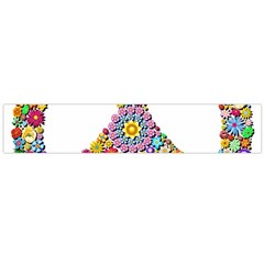 Groovy Flower Clip Art Flano Scarf (Large)