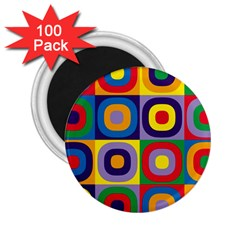 Kandinsky Circles 2.25  Magnets (100 pack)