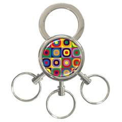 Kandinsky Circles 3-Ring Key Chains