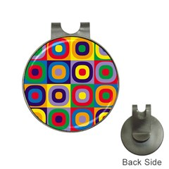 Kandinsky Circles Hat Clips with Golf Markers