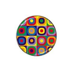 Kandinsky Circles Hat Clip Ball Marker