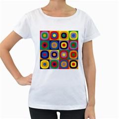 Kandinsky Circles Women s Loose-Fit T-Shirt (White)