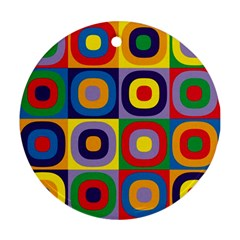Kandinsky Circles Round Ornament (Two Sides)