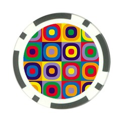 Kandinsky Circles Poker Chip Card Guard (10 pack)