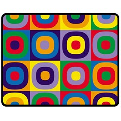 Kandinsky Circles Fleece Blanket (Medium)