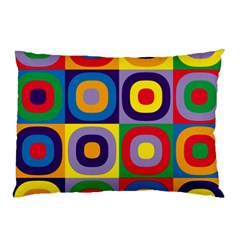 Kandinsky Circles Pillow Case (two Sides)
