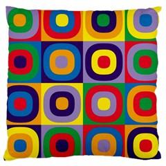 Kandinsky Circles Large Cushion Case (One Side)