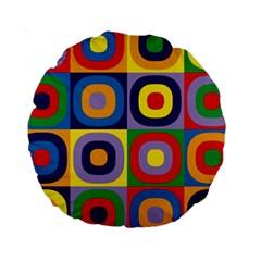 Kandinsky Circles Standard 15  Premium Round Cushions
