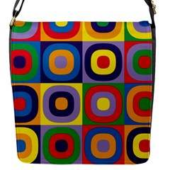 Kandinsky Circles Flap Messenger Bag (s)