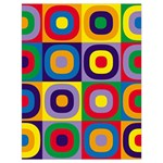 Kandinsky Circles Drawstring Bag (Large) Back