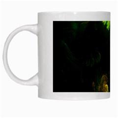 Light Fractal Plants White Mugs